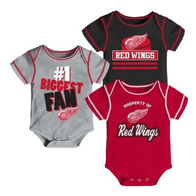 (Detroit Red Wings NHL Infant Red/Black/Grey