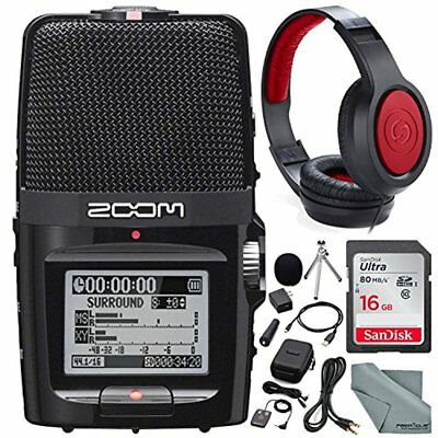 Zoom H2n Handy Portable Digital Audio Recorder with Samson Stereo Headphones ... ()
