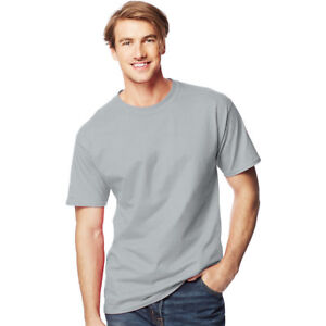 69cce384 Hanes 518T Mens Beefy T Tall T-shirt Size 4xlt Light Steel Grey for ...