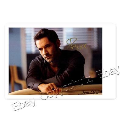 Tom Ellis alias Lucifer (TV Serie)  - Autogrammfotokarte laminiert [M3]