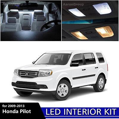15PCS White Interior LED Light Package Kit For 2009 - 2013 Honda Pilot Lighting Pilot Lights