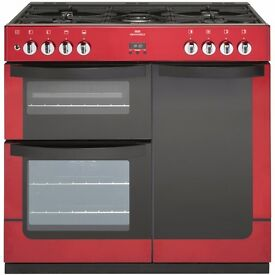 *NEW* New World Vision 90DF Red Range Dual Fuel Cooker Ferndown Wimborne Bournemouth Poole Area