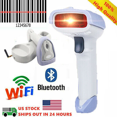 Wifi Automatic Handheld Barcode Scanner Gun Reader Bluetooth Wireless Usb Cable