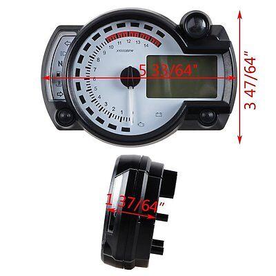 Universal 15000 RPM 299 KMH MPH Odometer Speedometer Tachometer Motorcycle