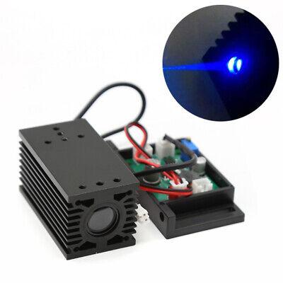 12v Focusable 445nm-450nm 2000mw Blue Laser Module Ttl Cutter Engraving 2a Usa