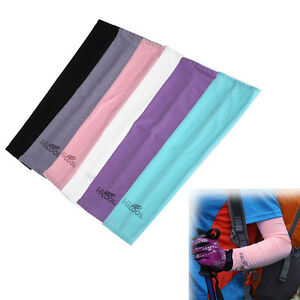 1-Pair-Cooling-Arm-Sleeves-Cover-UV-Sun-Protection-Basketball-Sports-Stretch-New