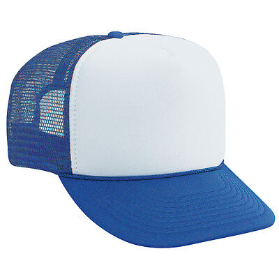 OTTO Polyester Foam Front 5-Panel High Crown Mesh Back Trucker Hat (25 Colors) (Foam Hat)