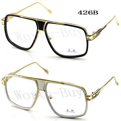 DMC Square Gazelle Club Clear Lens Frame Glasses Gold Mens Women Fashion Hip (Gazelles Glasses)