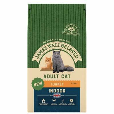JAMES WELLBELOVED ADULT CAT INDOOR TURKEY DRY CAT Food 1.5kg - BEST PRICE!!