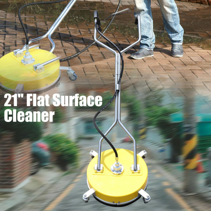 """21"""" Flat Surface Cleaner High Pressure Washer Water Concrete Cleaning Cleaner US"""