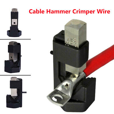 Battery Cable Hammer Crimper Wire Terminal Welding Lug Crimping Tool Easy To Use