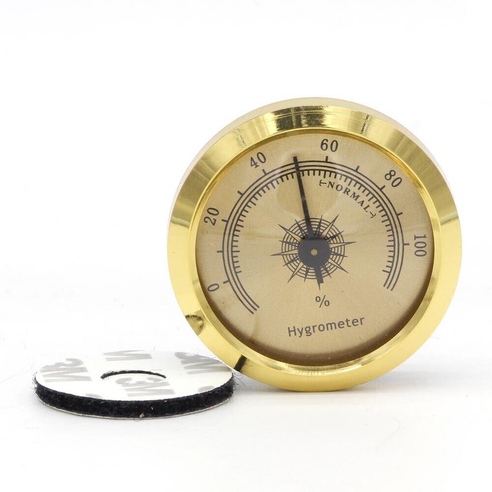 GALINER Round Cigar Humidor Hygrometer Mini Thermometer Pock