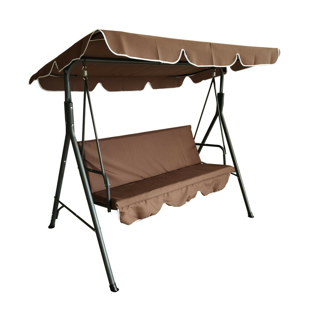 Patio Swing Chair Bench Lounge Chair 3-Person Seat Outdoor H