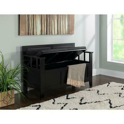 Linon Home Decor Carlton Padded Bench, Black:</