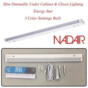NEW Nadair 22 LED Plug-in Swivel Ultra Slim Dimmable Under Cabinet  Closet Lighting, Energy Star, 3 Color Setttings ...