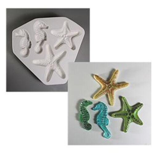 Starfish & Seahorse Frit Cast Mold - Creative Paradise Glass Fusing #LF149