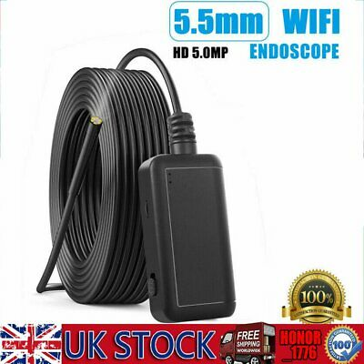 1920P WiFi Endoscope Wireless Inspection Camera Semi-Rigid Borescope Android IOS