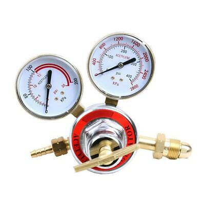 Acetylene Gas Regulator Welding Cutting Torch Pressure Gauge Fits Cga 510 Female