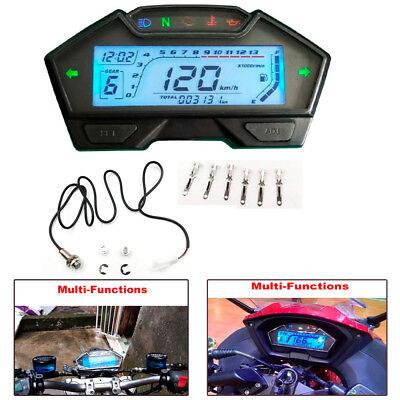 Multi-functions 13000 RPM LCD Motorcycle Speedometer Odometer Speed Fuel Gauge