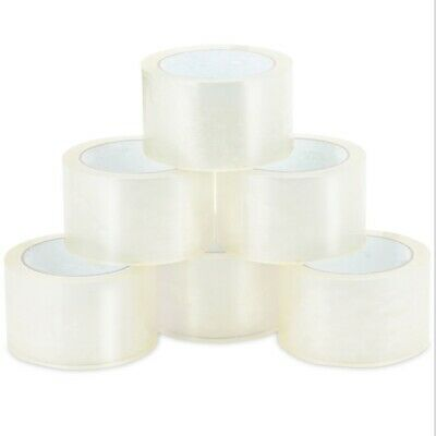 18 Rolls 2-inch x 55 Yards clear strong packing tape sealing cellotape packaging