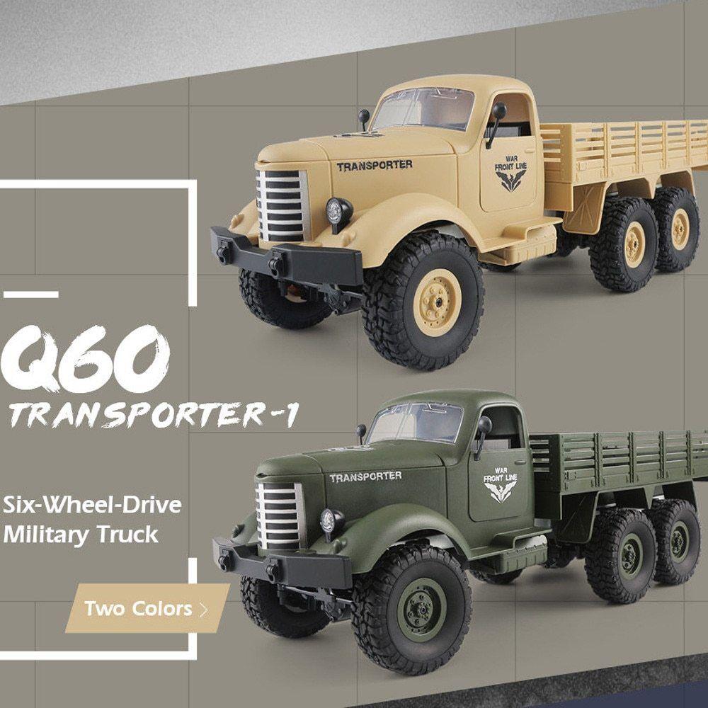 JJRC Q60 RC Military Truck Toy Car 1:16 2.4G Remote Control