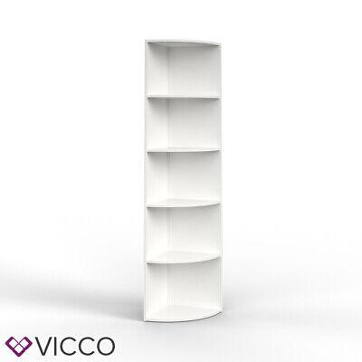 Vicco etagère d'angle Ecki pour livres blanc 3 casiers étagère suspendue