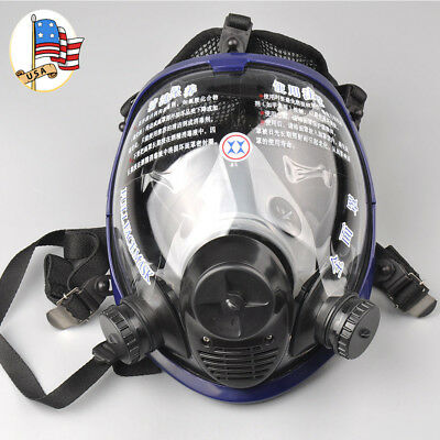 Full Face Large Vision Gas Mask Anti-dust Facepiece Respirator Painting Spraying