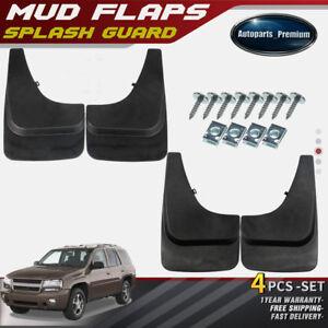 New 4pcs Splash Guards Mud Flaps MudFlaps for Chevrolet Trailblazer 2002-2009