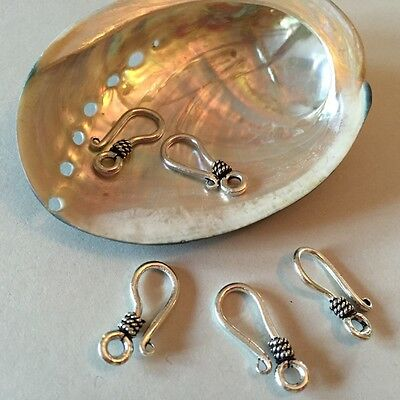 5pc Sterling Silver Bali-Style Hook Clasp 19mm 3/4 in wholesale (bshook-5 Bali Style Hook Clasp