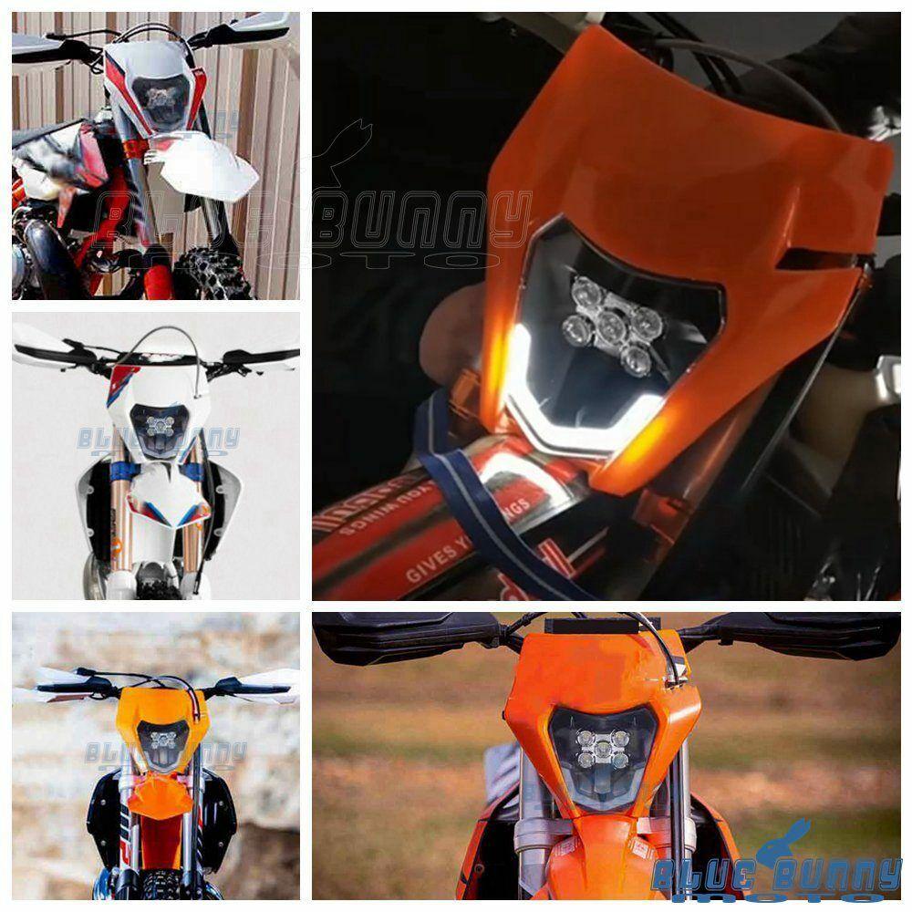 Motorcycle Enduro LED Headlight For EXC XCF XCW SXF TE TC