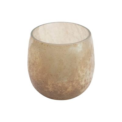Distressed Glass Tea Light Candle Holder - $12.00