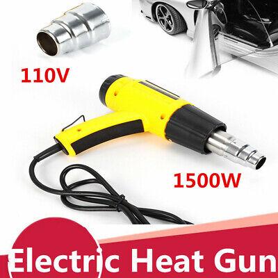 Lcd Digital Hot Air Heat Gun Temperature Adjustable Nozzle 1500w Ac110v Us Stock