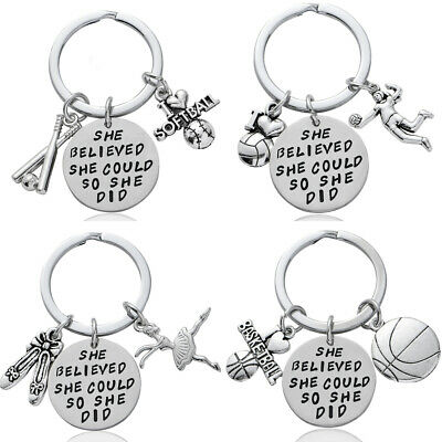 Sports Football Keyring Basketball Keychain Graduation Gifts Key Ring Pendants