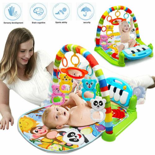 3in1 Krabbeldecke Spieldecke Spielbogen Spielmatte Erlebnisdecke Musik Baby GymD