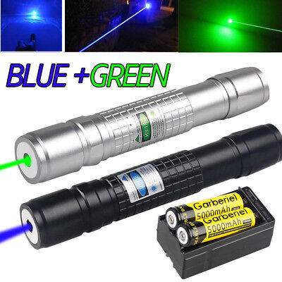 20miles Range Greenblue Laser Pointer Pen Visible Beam Zoom Lazer 18650charger
