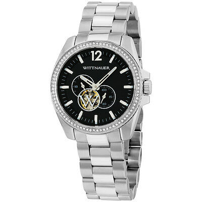 Wittnauer Black Dial Stainless Steel Mens Watch Wn3029