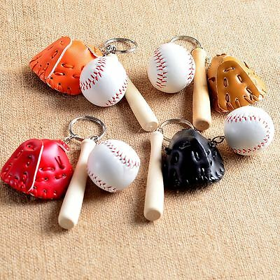 Ring Bag Key Chain For Gift Keyring Charm Pendant Softball Baseball Keychains - Softball Keychains