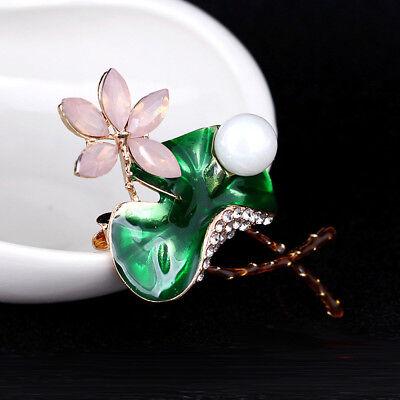 Flower Rhinestone Metal Lapel Pin Brooch Popular Accessories Fashion Jewelry