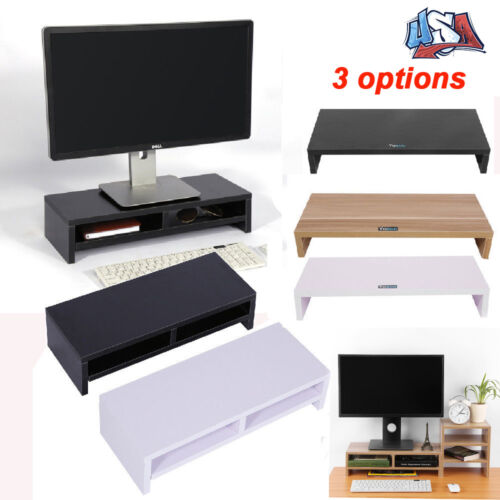 Computer Monitor Riser Desktop TV Stand  Desk Storage Shelf