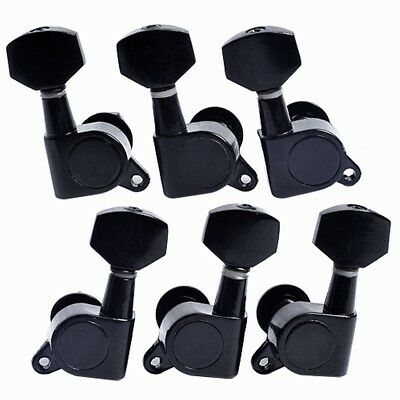 Acoustic Guitar Tuning Pegs Tuners Keys Machine Heads Guitar Parts Black 3L3R