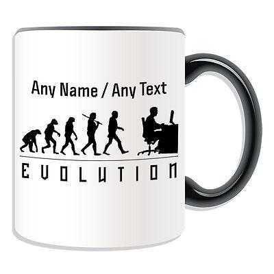 Personalised Gift Programmer Mug Money Box Cup Evolution Design Gamer Computer (Design Computer Programm)