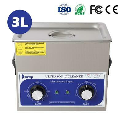 New 3l Ultrasonic Cleaner Stainless Steel Industry Heated Heater Wtimer