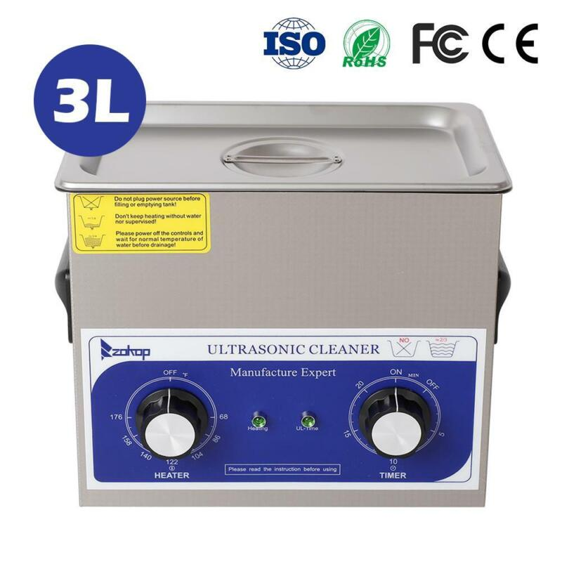 New 3L Ultrasonic Cleaner Stainless Steel Industry Heated Heater w/Timer