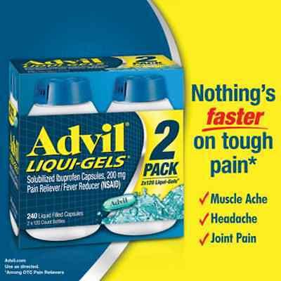 Advil Liqui Gels Solubilized Ibuprofen Capsules 200 Mg   240 Ct   Exp 02 2020