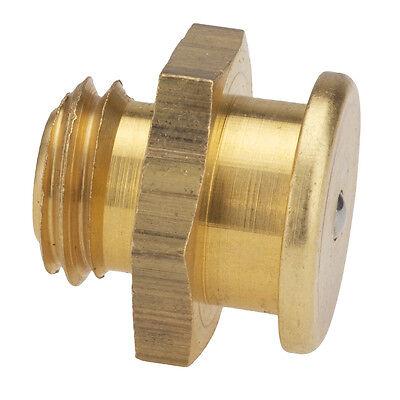 M12 x 1,75 [5 Stück] DIN 3404 Ø16mm Flachschmiernippel Messing
