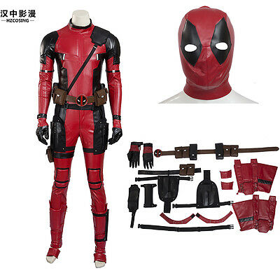 HZYM New Style High Quality Deadpool Cosplay Costume Full Suit Accessories Mask