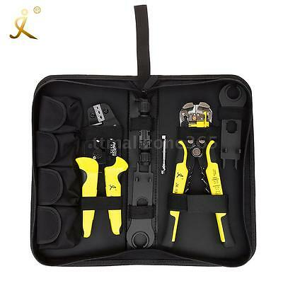 Professional Mc4 Solar Panel Crimping Tools Wire Terminal Crimper Stripper Set