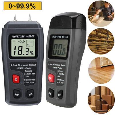 0-99.9% Digital Wood Moisture Meter Humidity Tester Timber D