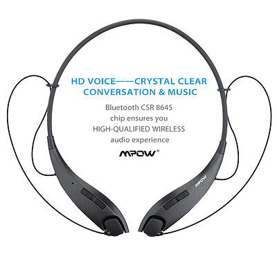 Mpow Bluetooth 4.1 Wireless Stereo Headphones Headset for iPhone 7 6s Samsung US