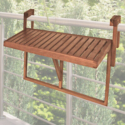 Balcony hanging table eucalyptus 100% FSC furniture height adjustable depth new